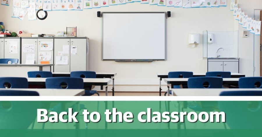 back to the classroom graphic