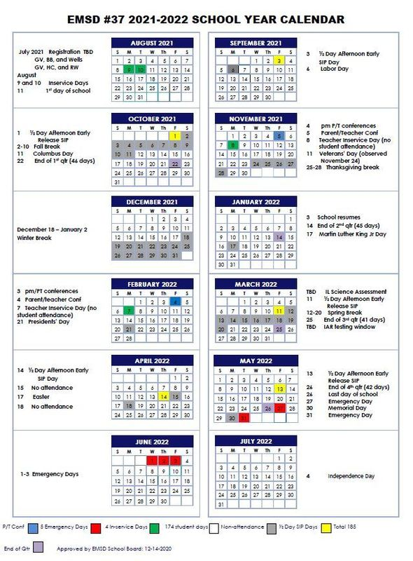 Images of Kent School District Calendar 2021-22